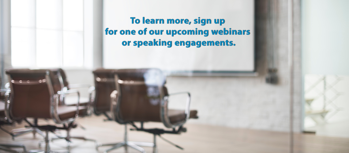 Webinars and Speaking Engagements